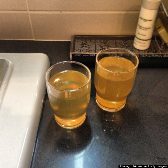 Water from faucet in Sochi hotel