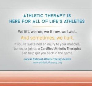 Athletic therapy month2